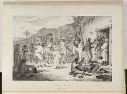 Negro Dance, taken from Richard Bridgens' 'West India Scenery', 1836